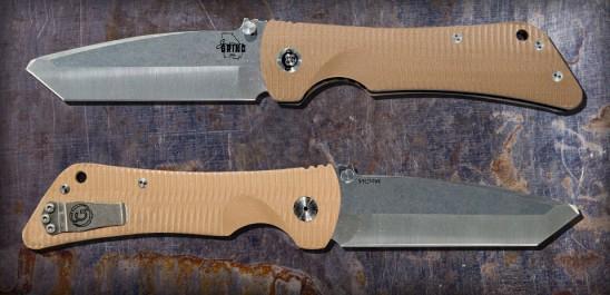 Custom Bad Monkey -G10 Desert Tan-Modified Tanto-Tumbled Satin