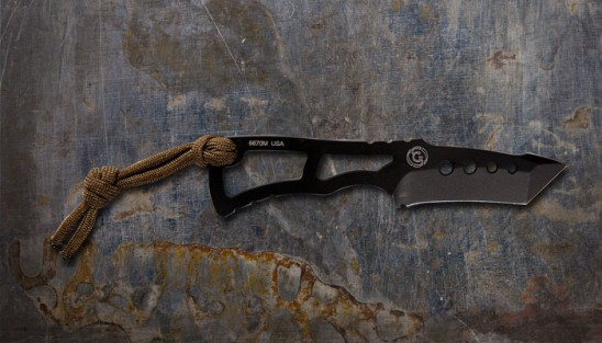 Rat Neck Knife - Outdoor Second Carry Tanto with PVD Black High Carbon Steel 2.25 Inch Blade