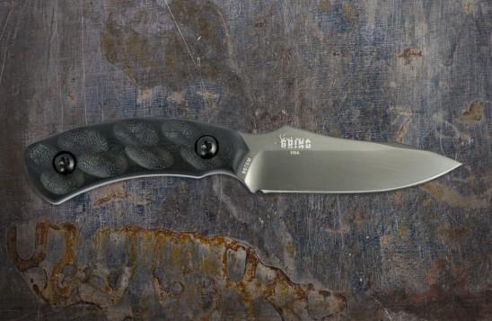 Jackal Pup Hunting Knife - Mulit-Use, High Carbon 2.8-inch Blade - Gunmetal Blade/Black Handle
