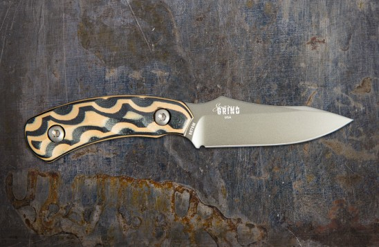 Jackal Pup Hunting Knife - Mulit-Use, High Carbon 2.8-inch Blade - Gunmetal Blade/Black and Tan Handle