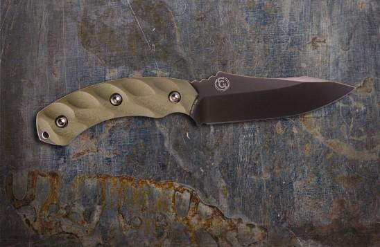 Jackal Hunting Knife - Mulit-Use, High Carbon 4.75-inch Blade - Gunmetal Blade/OD Green Handle
