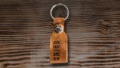 Southern Grind Leather Keychain