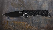 Spider Monkey Drop Point Black w/ Carbon Fiber Handle
