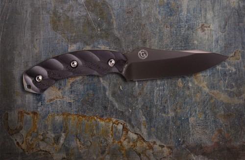 Jackal Gunmetal Blade & Black Handle w/ Kydex Sheath