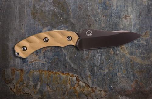 Jackal Gunmetal Blade & Desert Tan Handle w/ Kydex Sheath